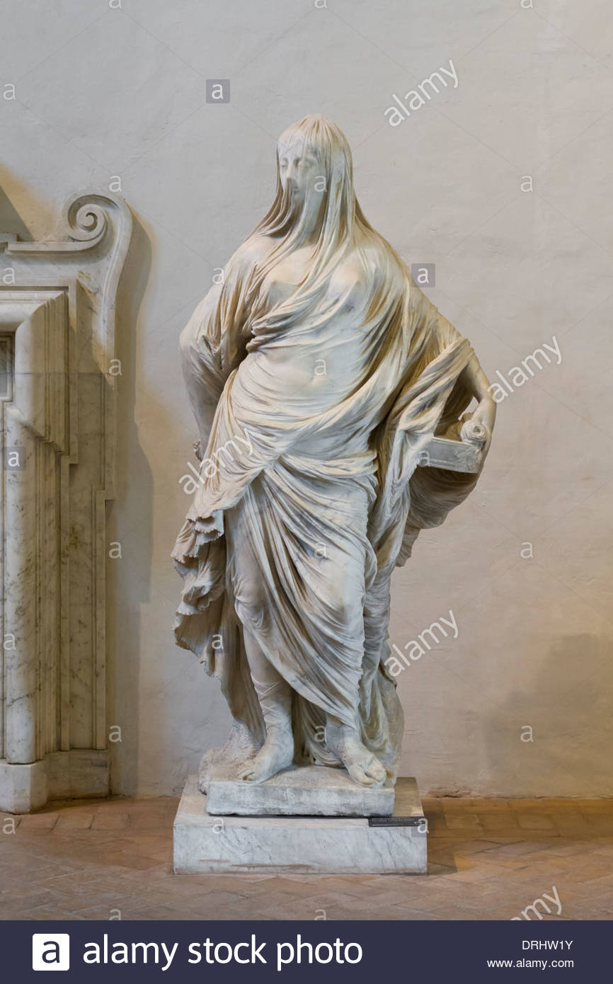 Tuccia La Velata Veiled Lady Antonio Corradini Stock