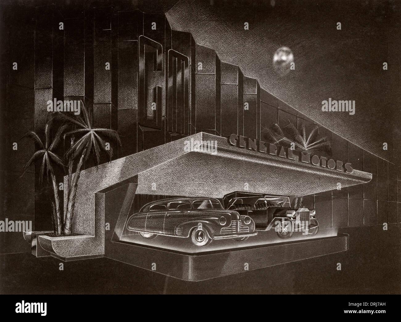 World Fair - General Motors - Futurama - Bel Geddes Stock Photo ...