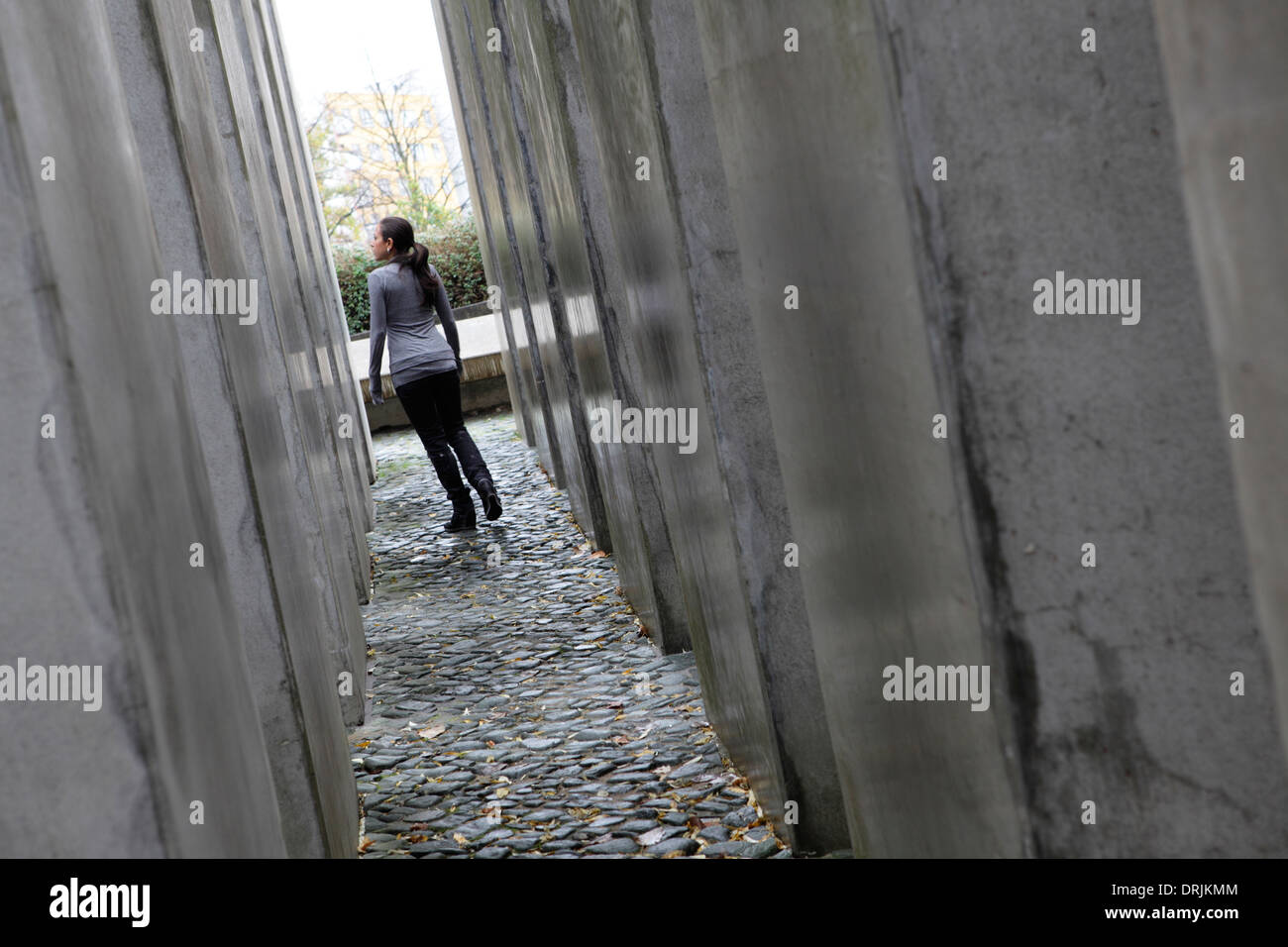 A Corridor Of Pillars In The Garden Of Exile At Jewish Museum
