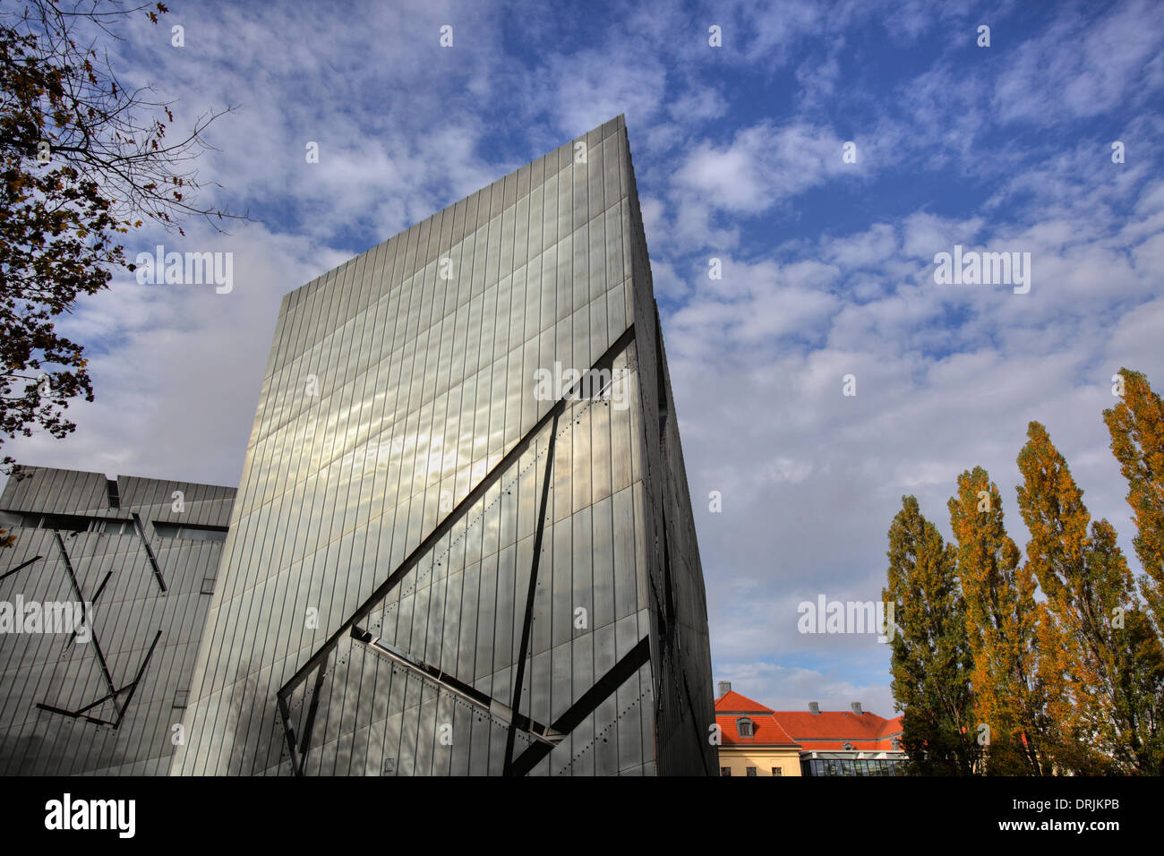 stock photo the modern architecture of the jewish museum berlin germany - Modern Architecture Museum