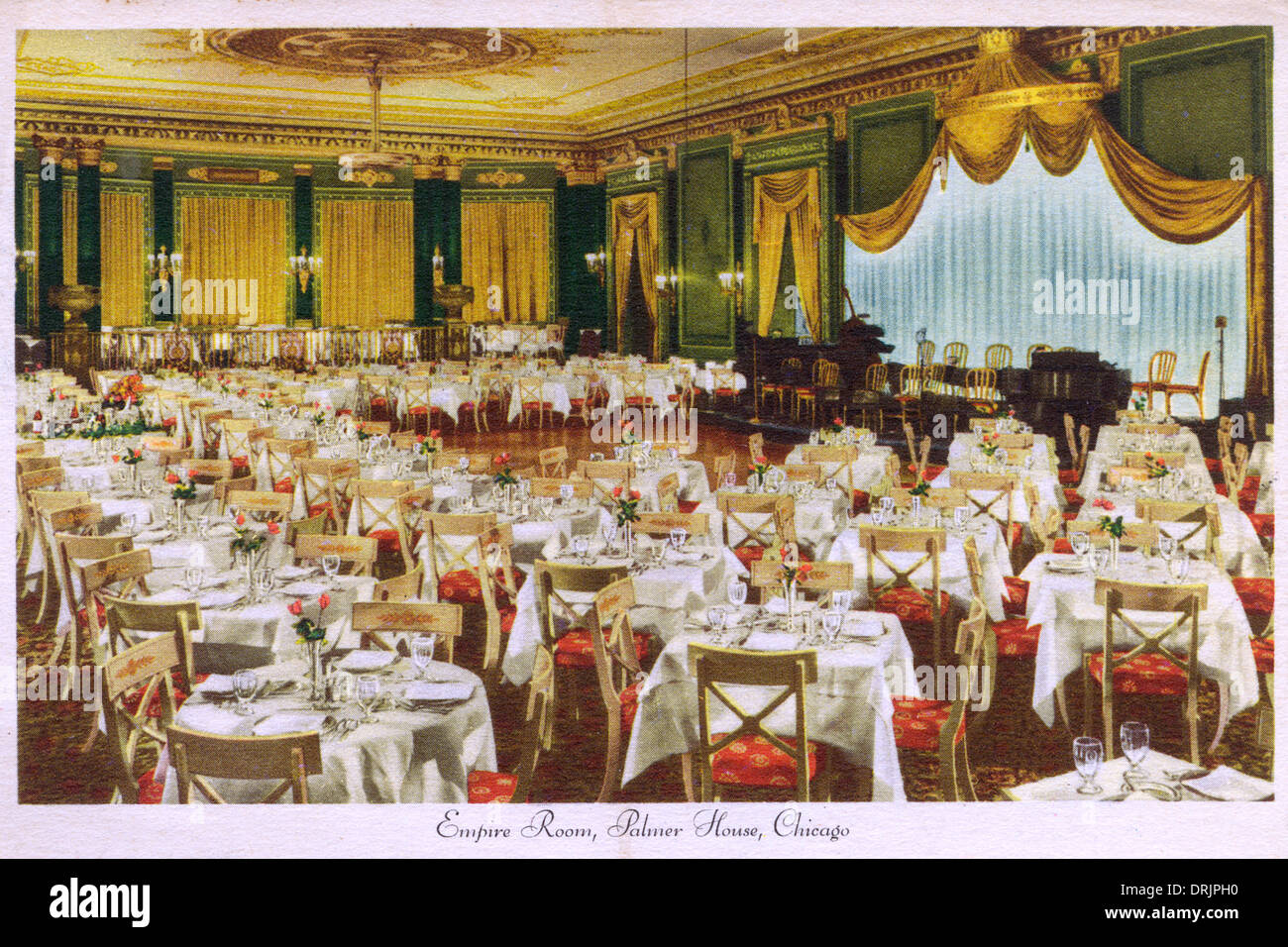 the empire room at the palmer house hotel in chicago stock photo