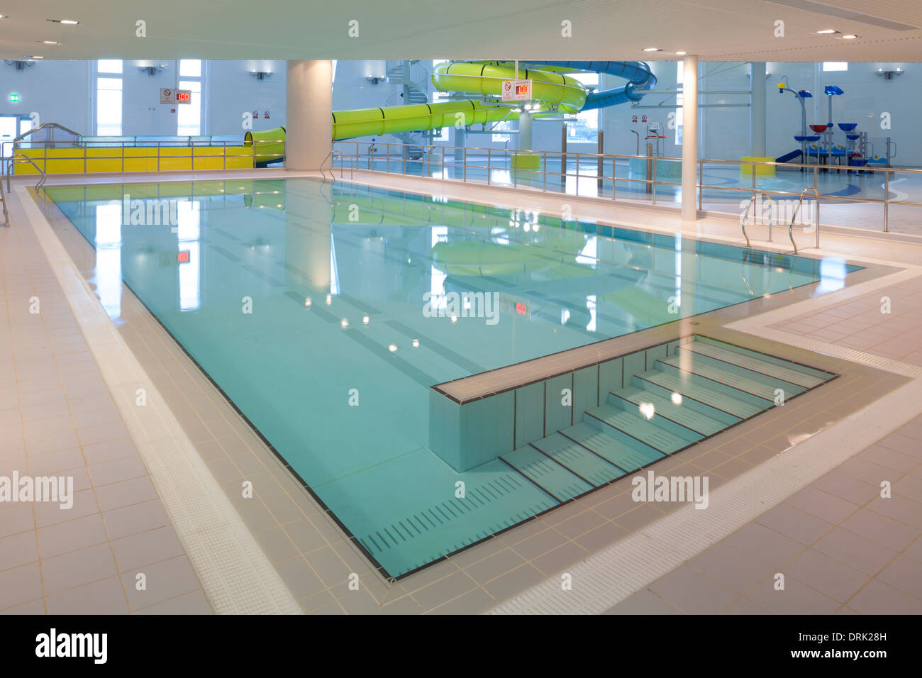 swimming pool at new haven leisure centre south shields stock photo royalty free image