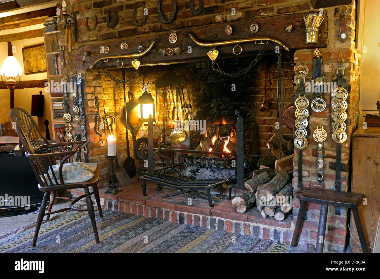 inglenook fireplace Stock Photo, Royalty Free Image: 21927273 - Alamy