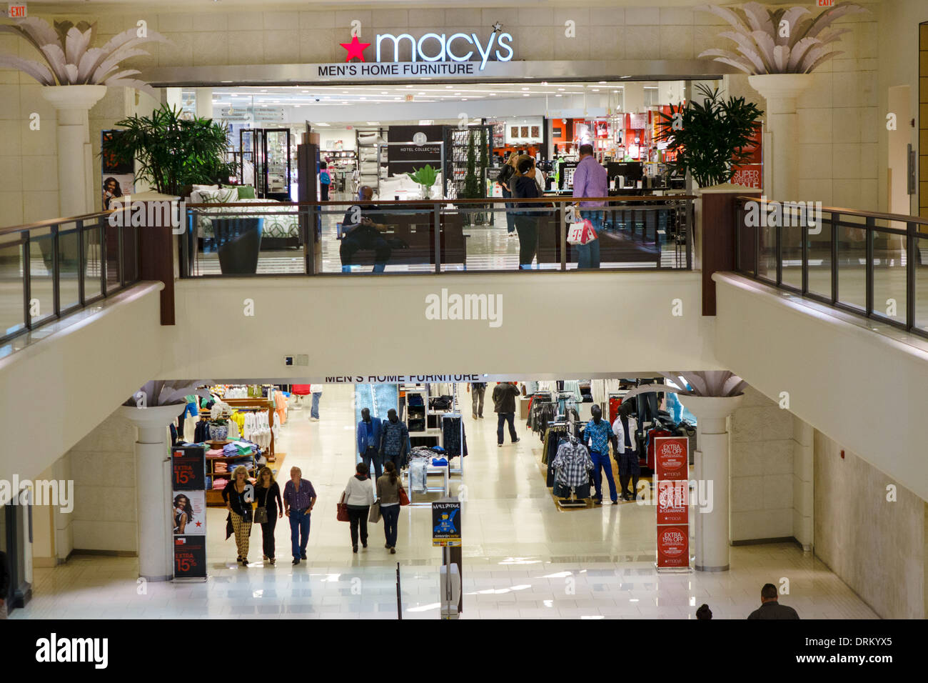Miami Florida Aventura Aventura Mall Shopping Multi Level Macyu0027s Department  Store Entrance Anchor Store