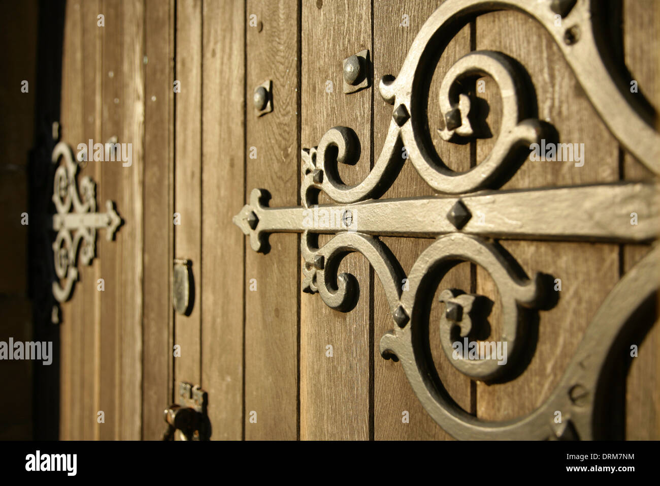 956 #9C7D2F Stock Photo Large Ornate Metal Hinges On The Front Door Of St Mary's  picture/photo Ornate Front Doors 39791300