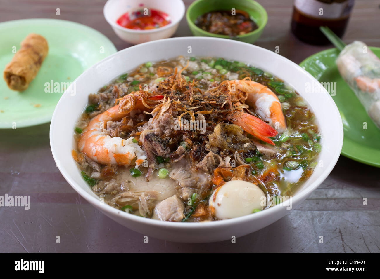 Stock Photo - Seafood Pho at the Lunch Lady Restaurant (Nguyen Thi Thanh) Ho Chi Minh City (Saigon