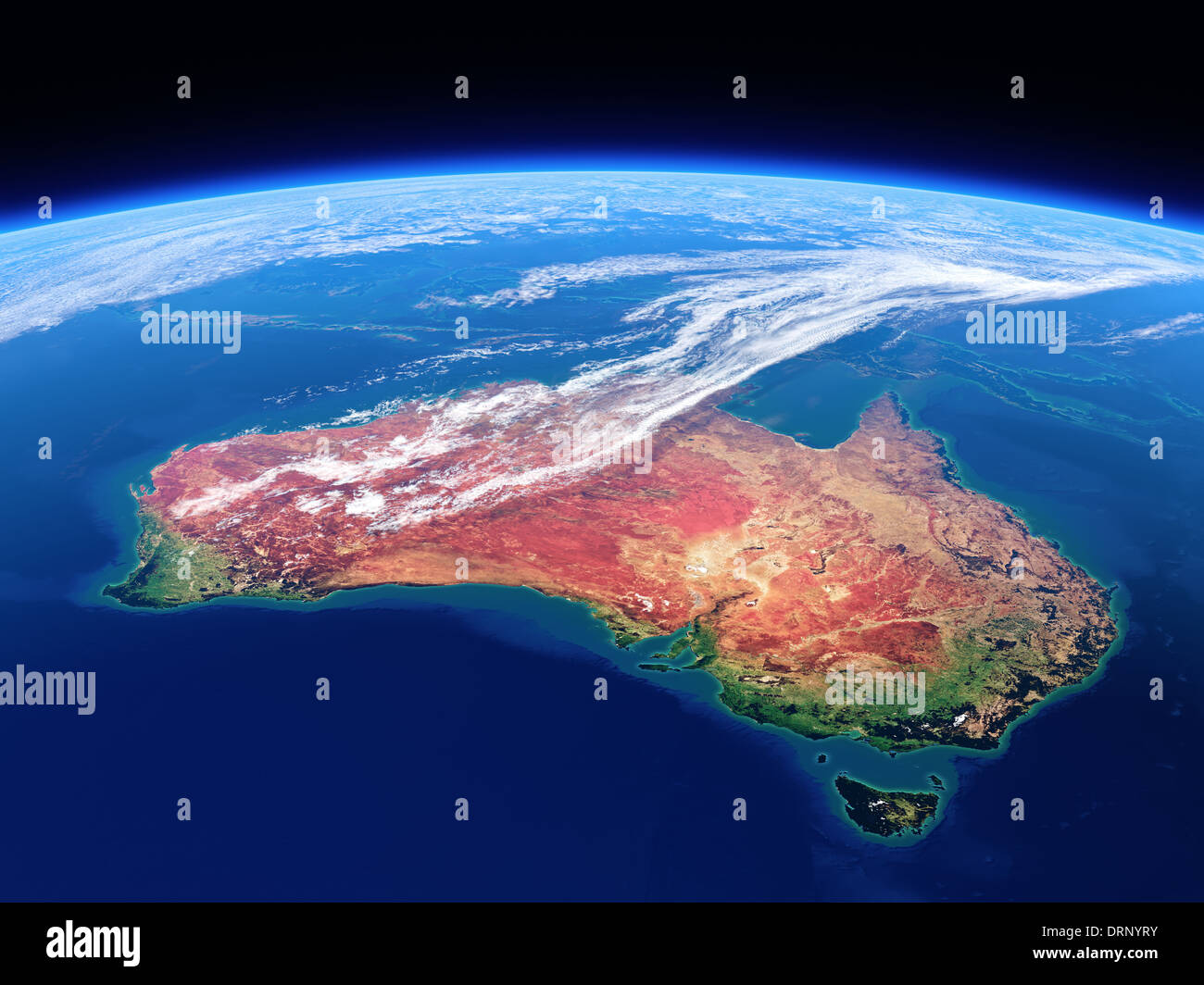 Australia seen from space source maps from for this 3d for 3d map of outer space