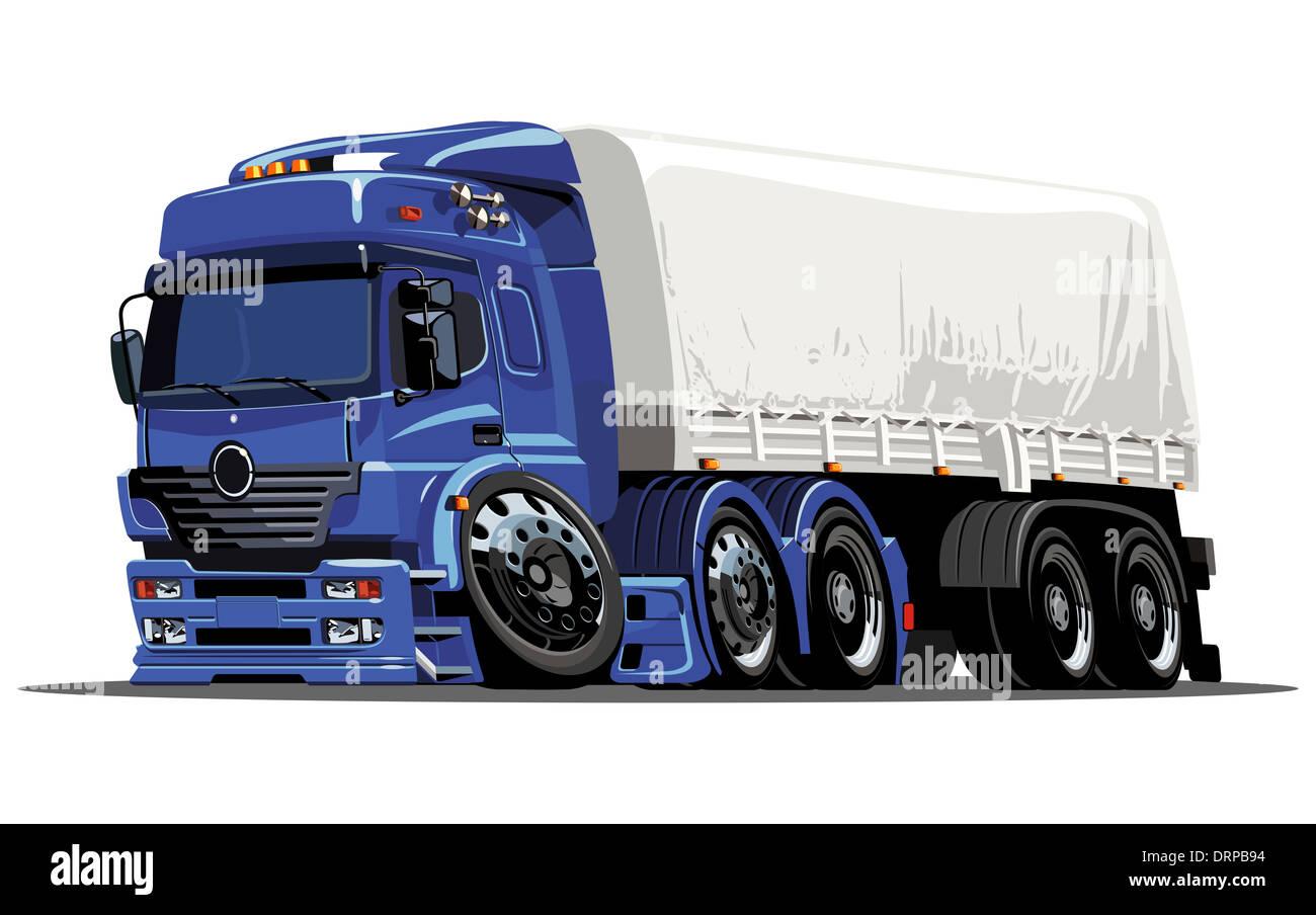 cartoon cargo semi truck stock photo royalty free image 66260016