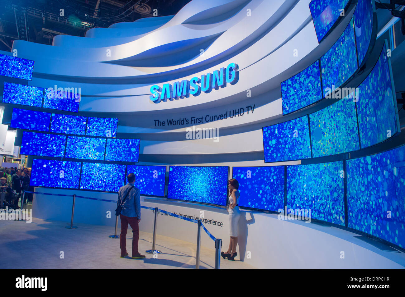 the samsung booth at the ces show in las vegas stock photo royalty free image 66261043 alamy. Black Bedroom Furniture Sets. Home Design Ideas
