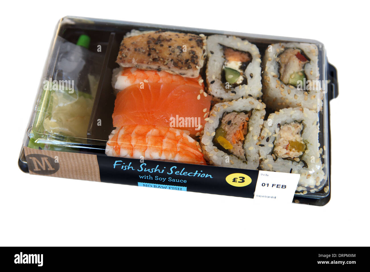 Morrisons fish sushi selection stock photo royalty free for Best fish for sushi