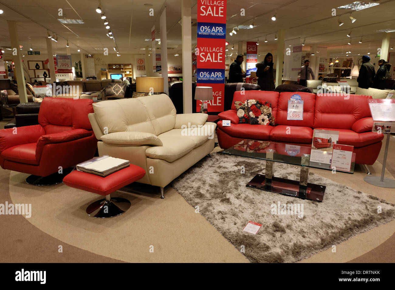 Interior of a furniture village shop in milton keynes for Furniture u village