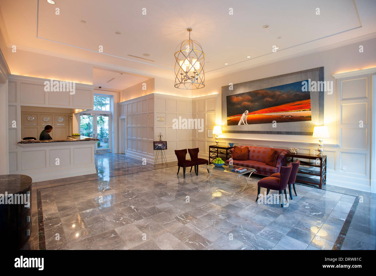 Stock photo usa mississippi ms miss greenwood luxury hotel the alluvian hotel owned by the viking range company upscale fine lobby