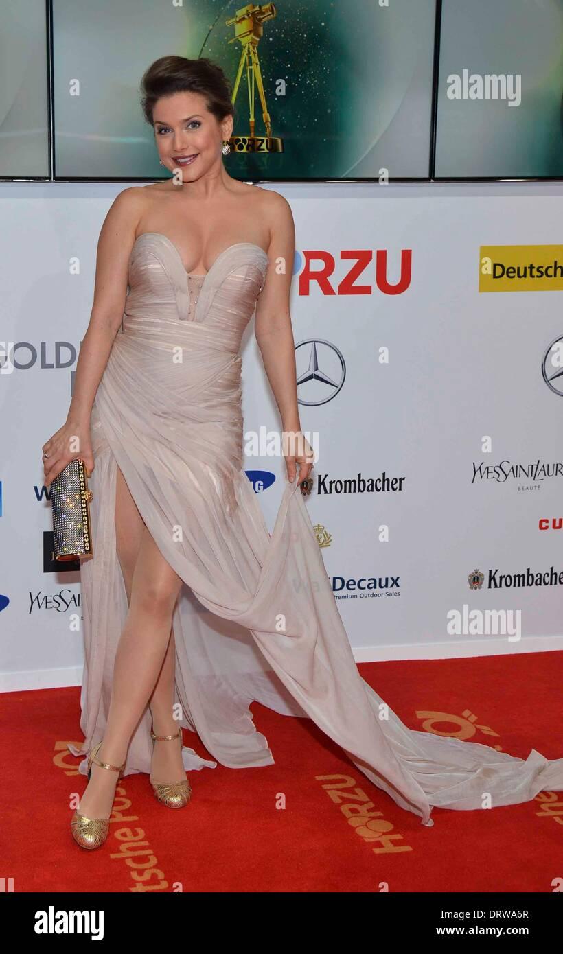 Actress jeanette biedermann arrives at the 49 goldene kamera 2014 at hangar airport tempelhof in