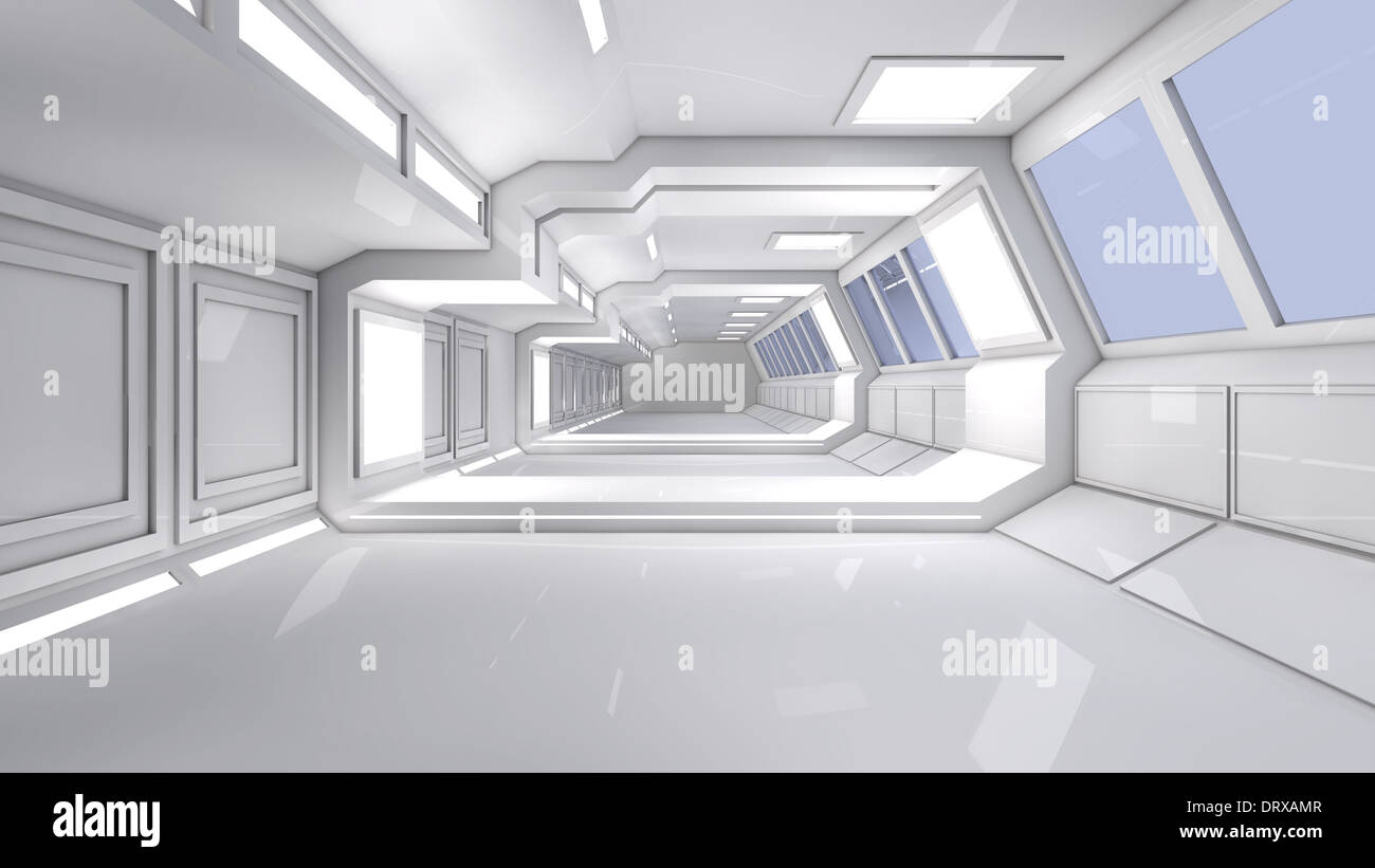 Futuristic Interior Architecture Stock Photo 66347367 Alamy