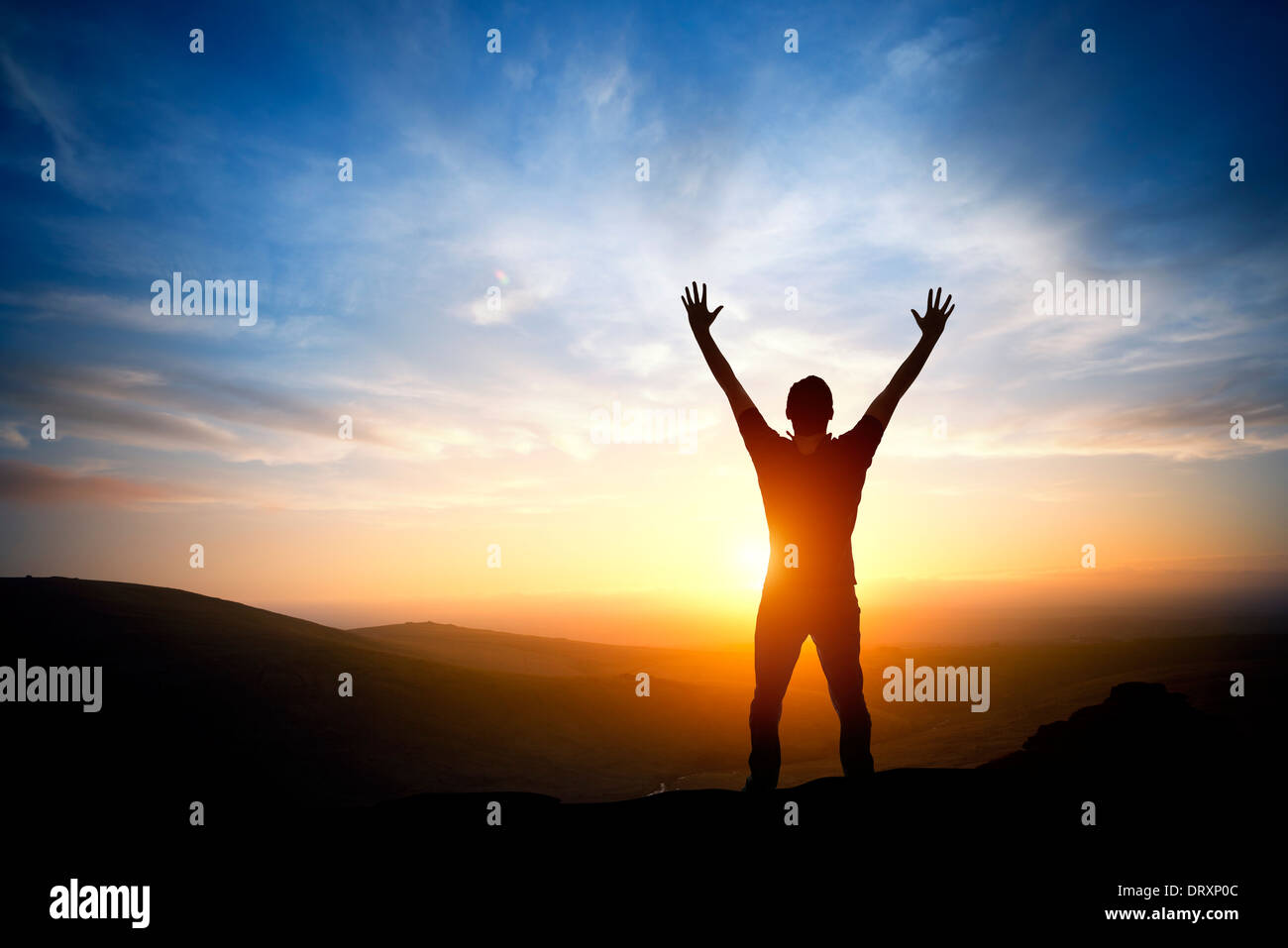 Fresh new morning a person reaching up on a bright for Morning sunrise images