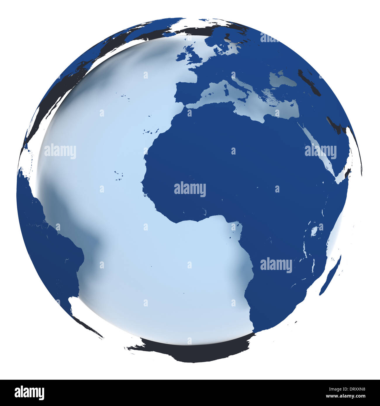 Coloring pictures continents - 3d Model Of Earth In Elegant Blue Coloring With Continents Hovering Over The Sphere Elements