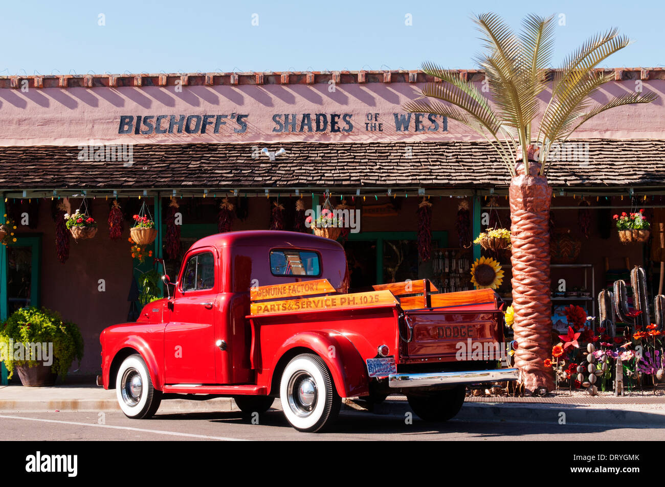 Restored truck in front of Bischoff\'s Shades of the West retail ...