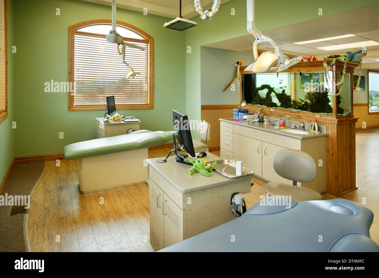 The Interior Of A Modern Pediatric Dental Office, Showing Modern Equipment  For Treatment
