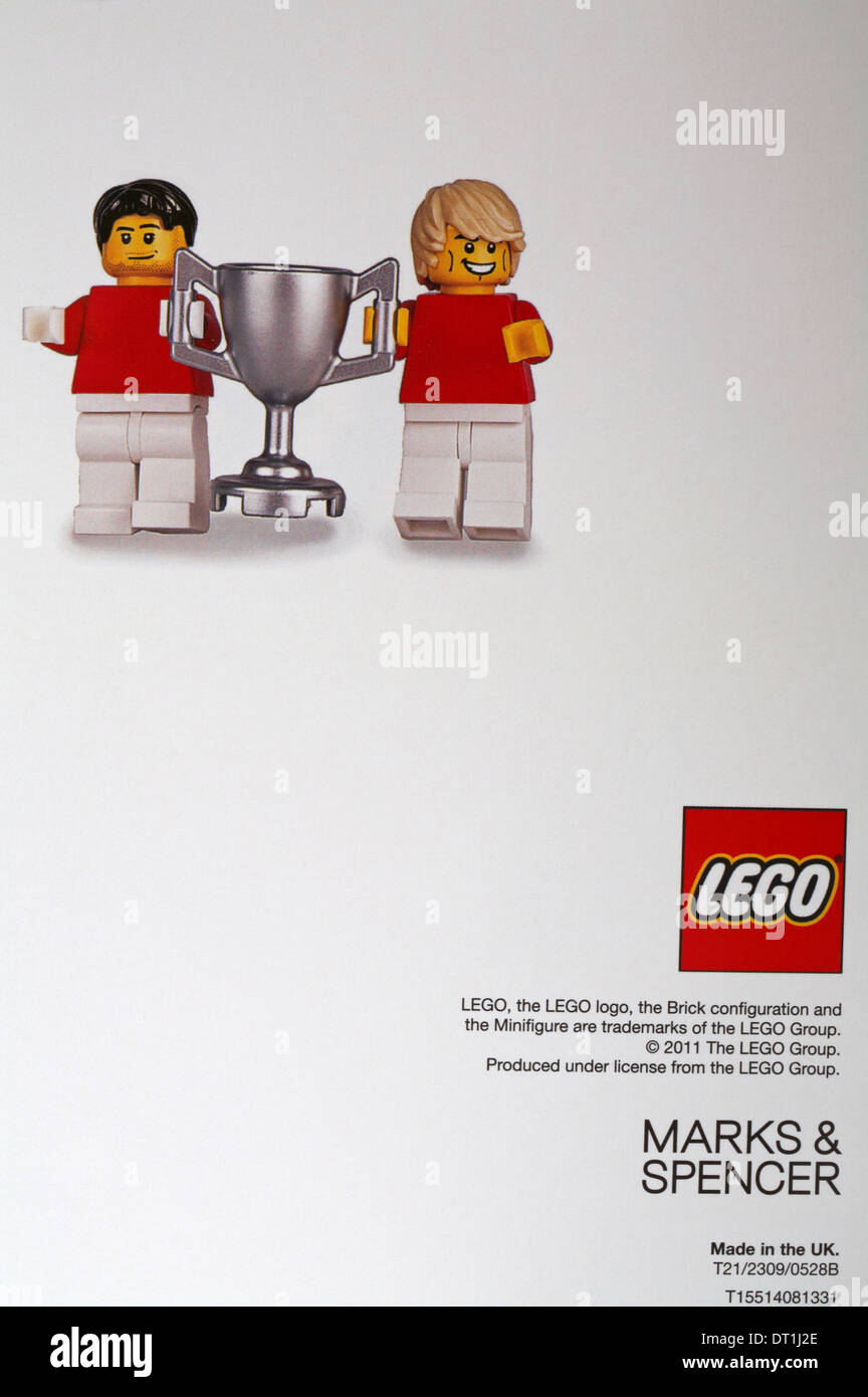Back of marks spencer lego birthday card stock photo 66418982 back of marks spencer lego birthday card kristyandbryce Image collections