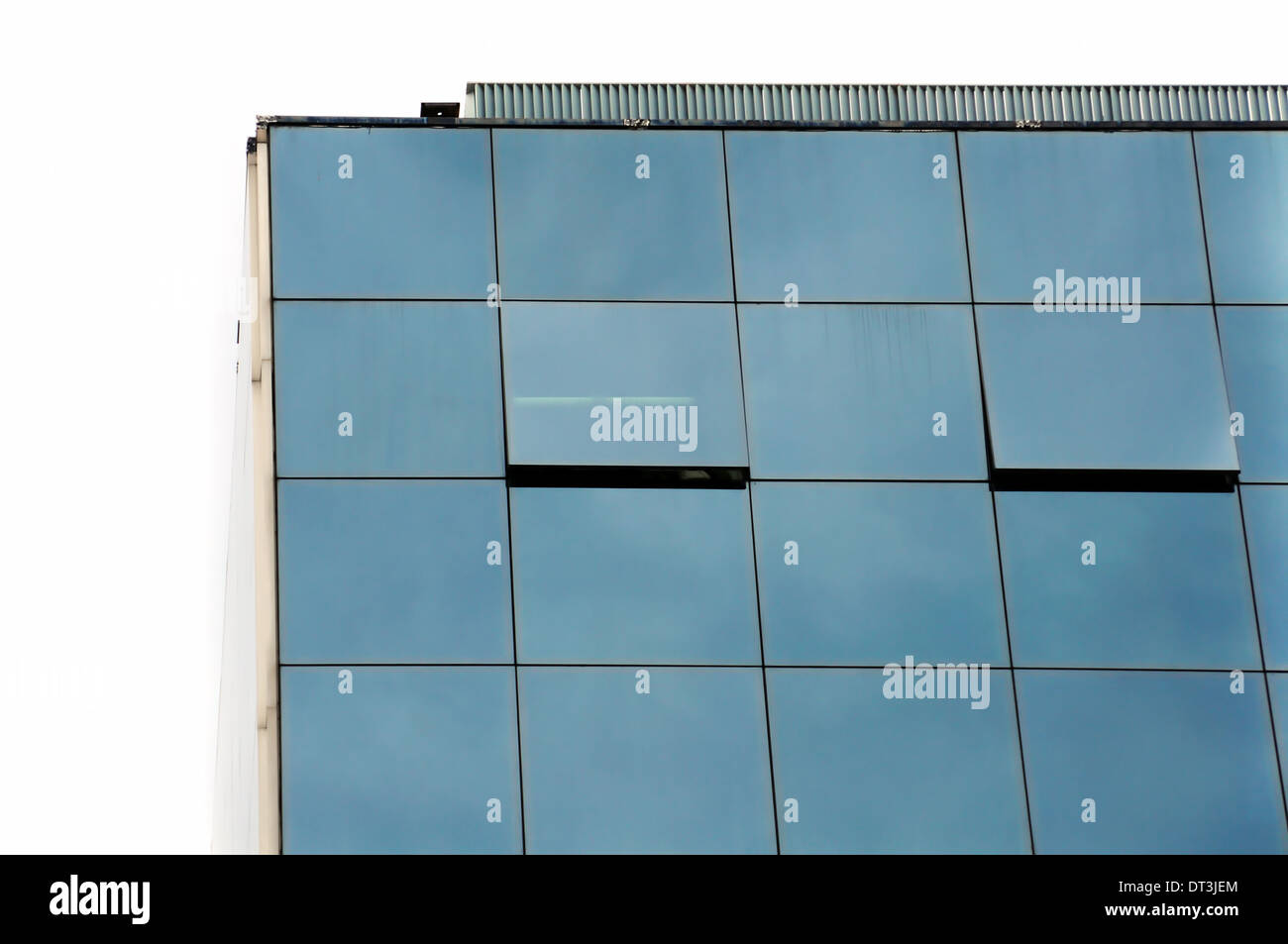 Glass office windows - Office Building Glass Facade And Open Windows Modern Architecture