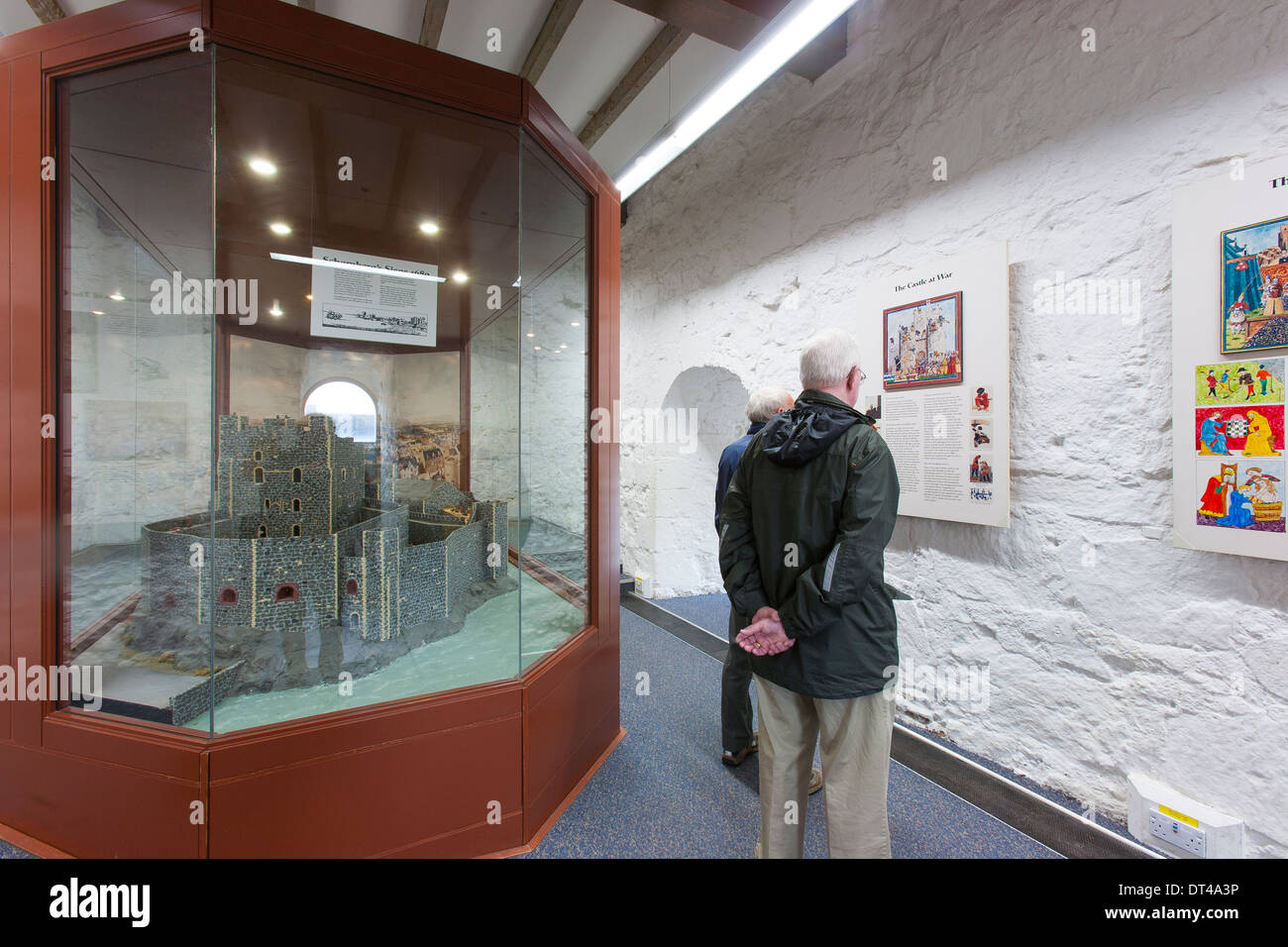 the interior or inside of carrickfergus castle, a norman castle in