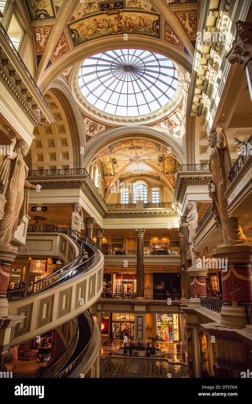 Shopping Mall Caesars Palace Las Vegas Nevada Usa