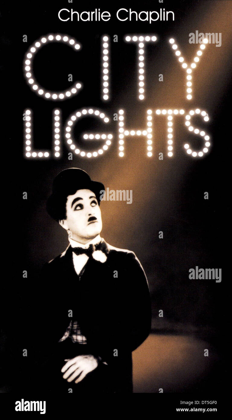 charles chaplin poster city lights 1931 stock photo royalty free image 66505572 alamy. Black Bedroom Furniture Sets. Home Design Ideas