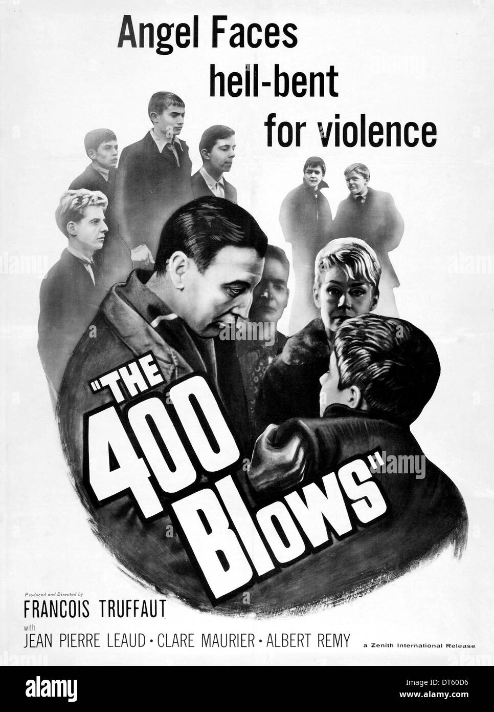 Movie poster the 400 blows les quatre cents coups 1959 stock photo royalty free image - Cinema chatellerault les 400 coups ...