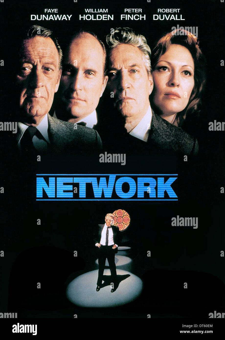 Faye dunaway network -  William Holden Robert Duvall Peter Finch Faye Dunaway Poster Network 1976 Stock