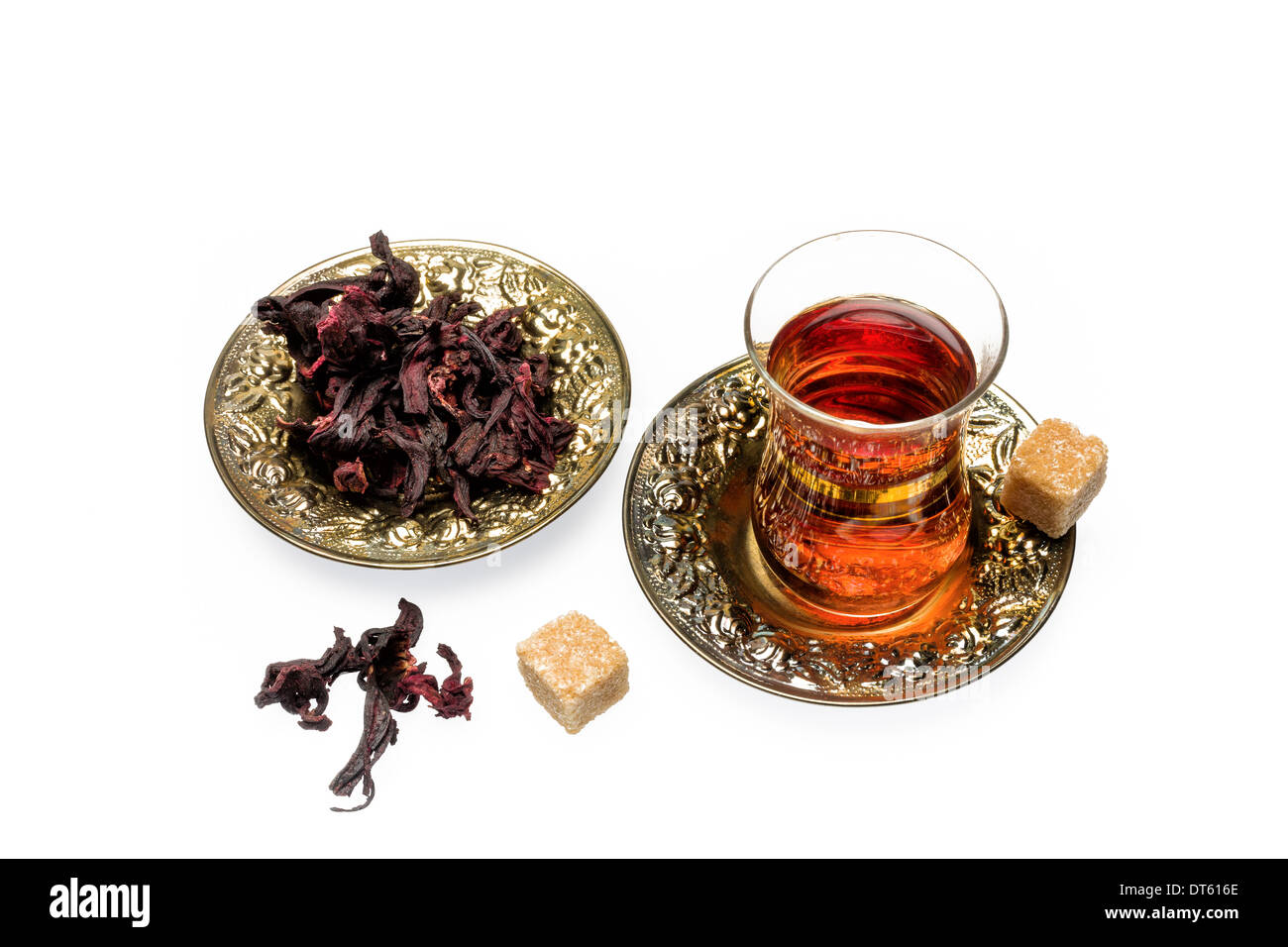 Fragrant and tasty tea from dried hibiscus flowers stock photo fragrant and tasty tea from dried hibiscus flowers izmirmasajfo Images