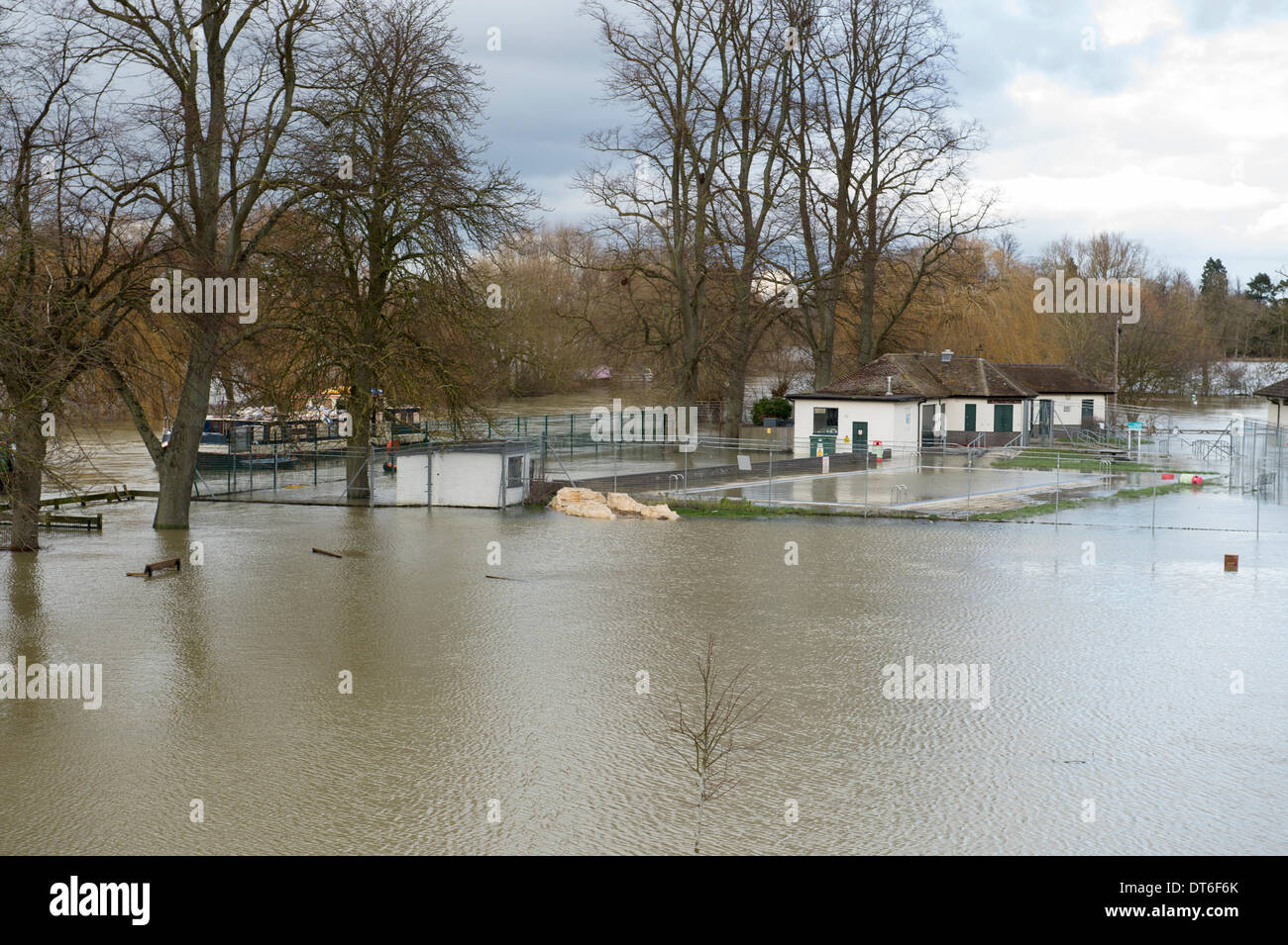 wallingford uk 10th feb 2014 flooded park and recreation