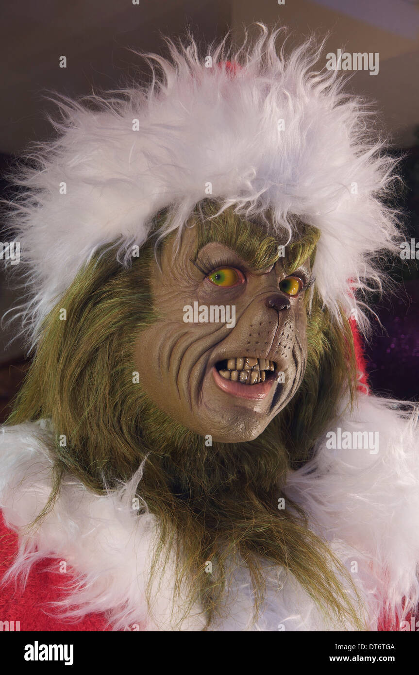 "The Grinch. A model of the grumpy green creature from ""How the ..."
