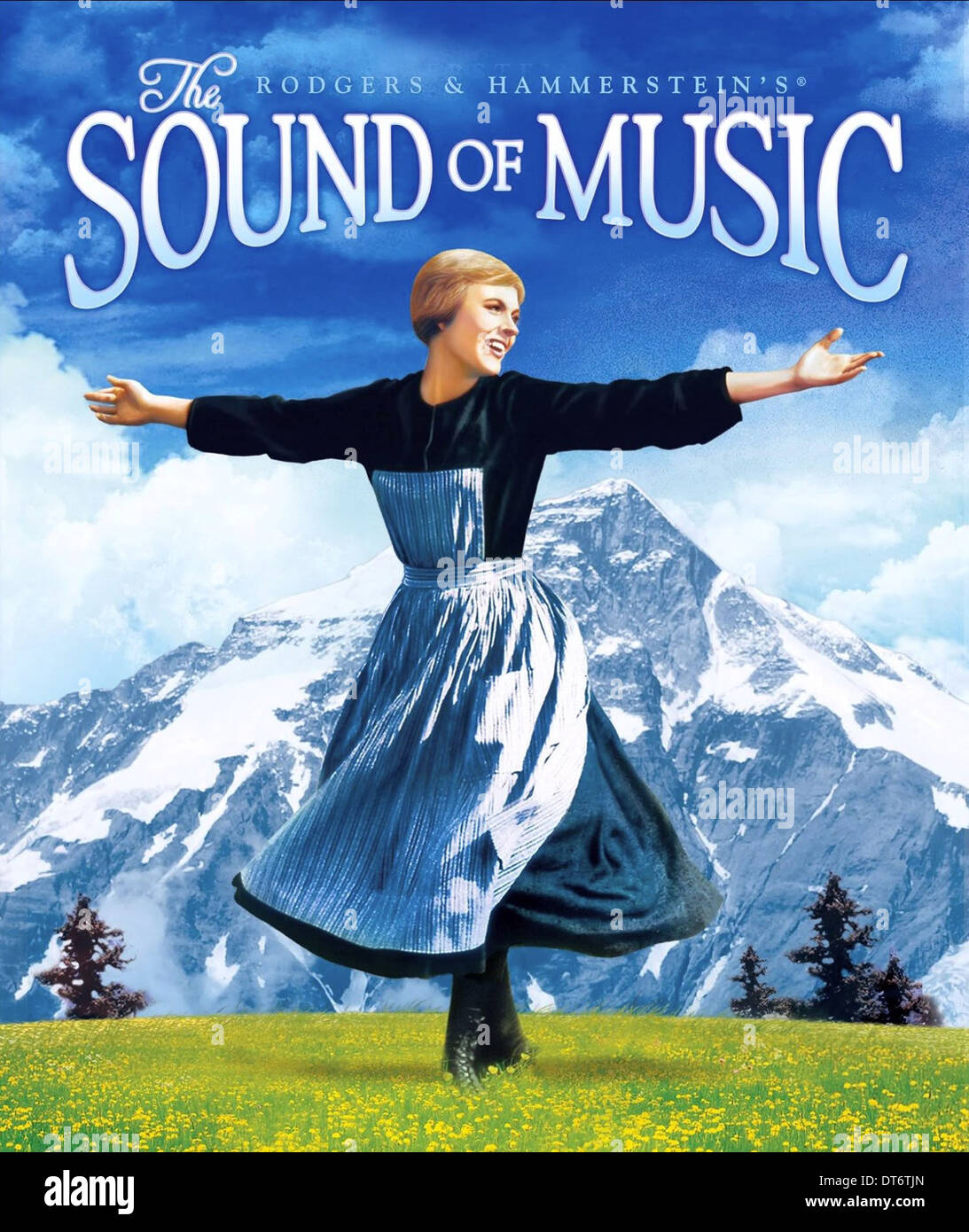 julie andrews poster the sound of music 1965 stock photo
