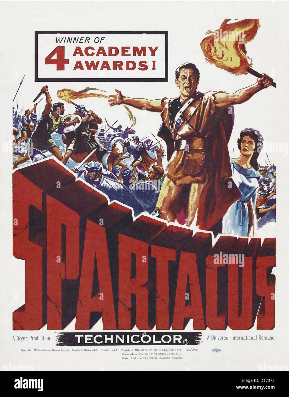 movie poster spartacus 1960 stock photo royalty free