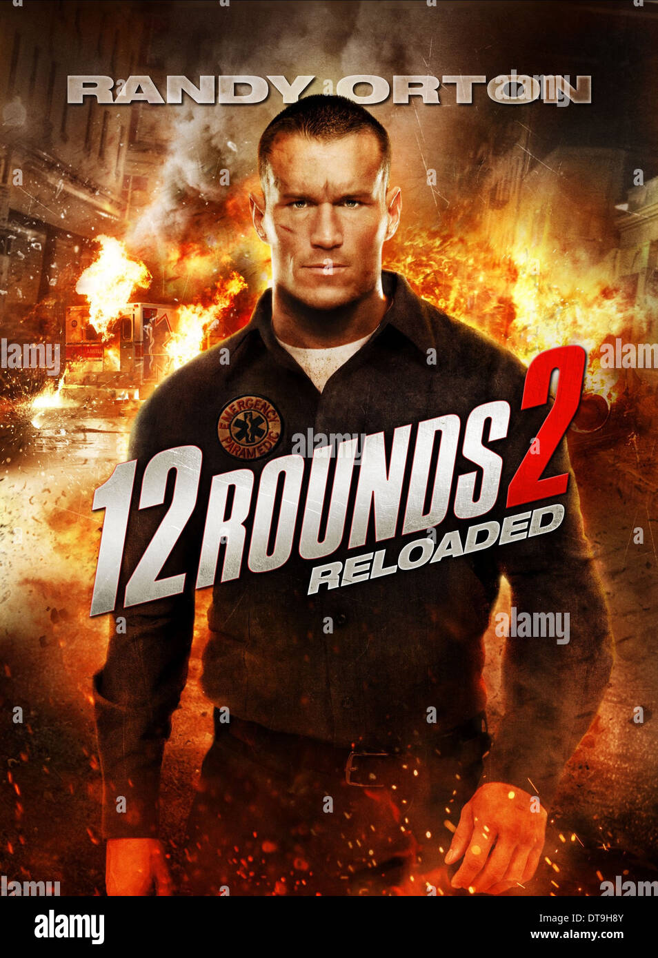 randy orton poster 12 rounds reloaded 2013 stock photo