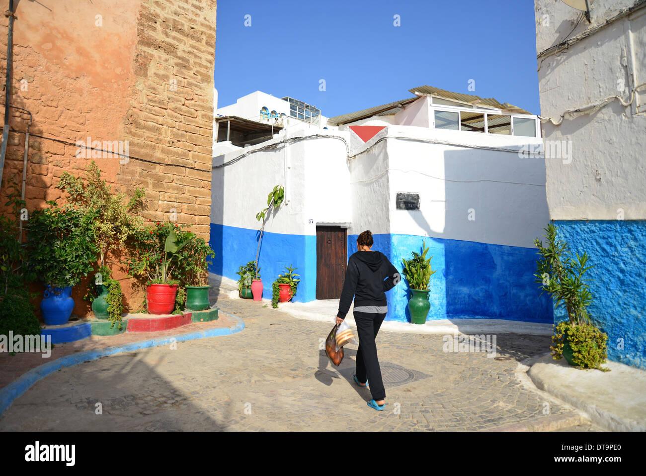 Colourful Houses In Kasbah Of The Udayas Qasbah Des Oudaya Rabat Stock Photo Royalty Free