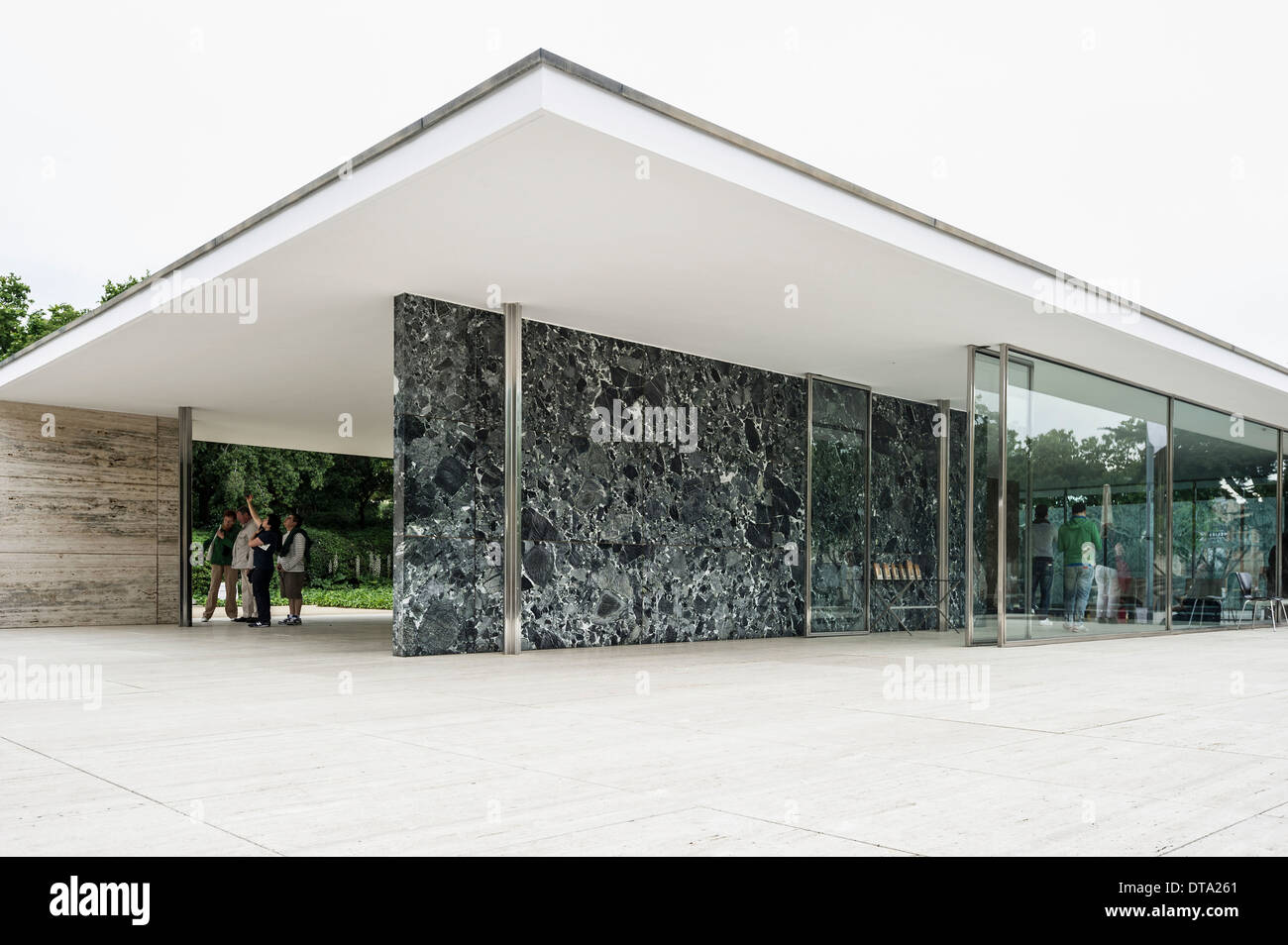 barcelona pavilion architect ludwig mies van der rohe for the 1929 stock photo royalty free. Black Bedroom Furniture Sets. Home Design Ideas