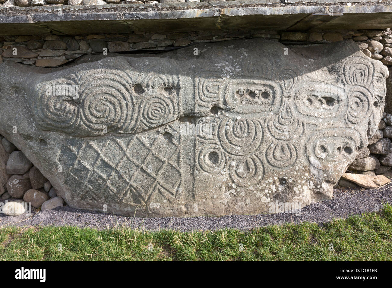 Newgrange neolithic rock art carved prehistoric monument