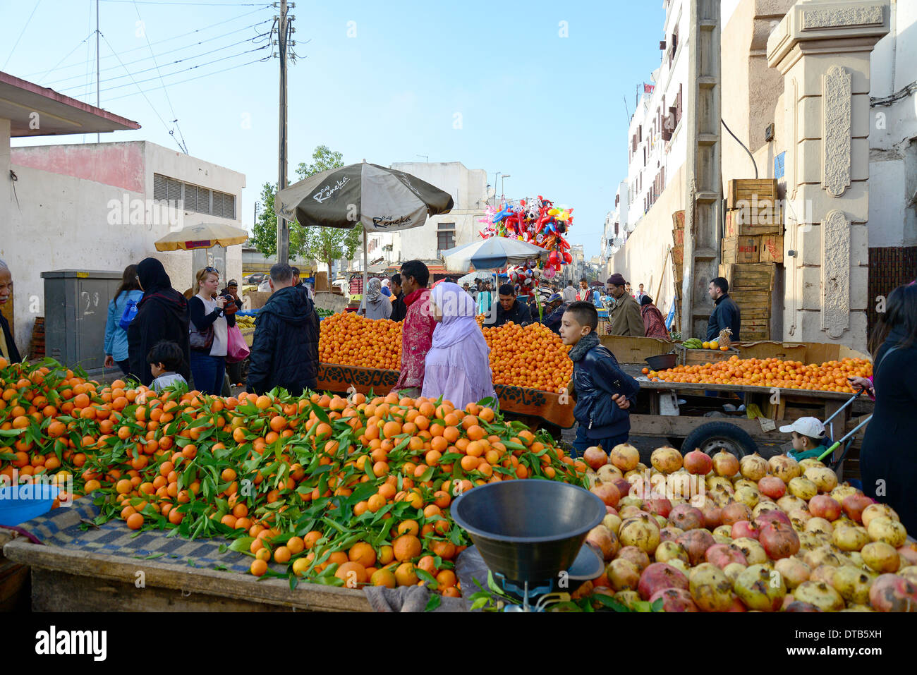 fruit stalls in old medina casa anfa district casablanca. Black Bedroom Furniture Sets. Home Design Ideas