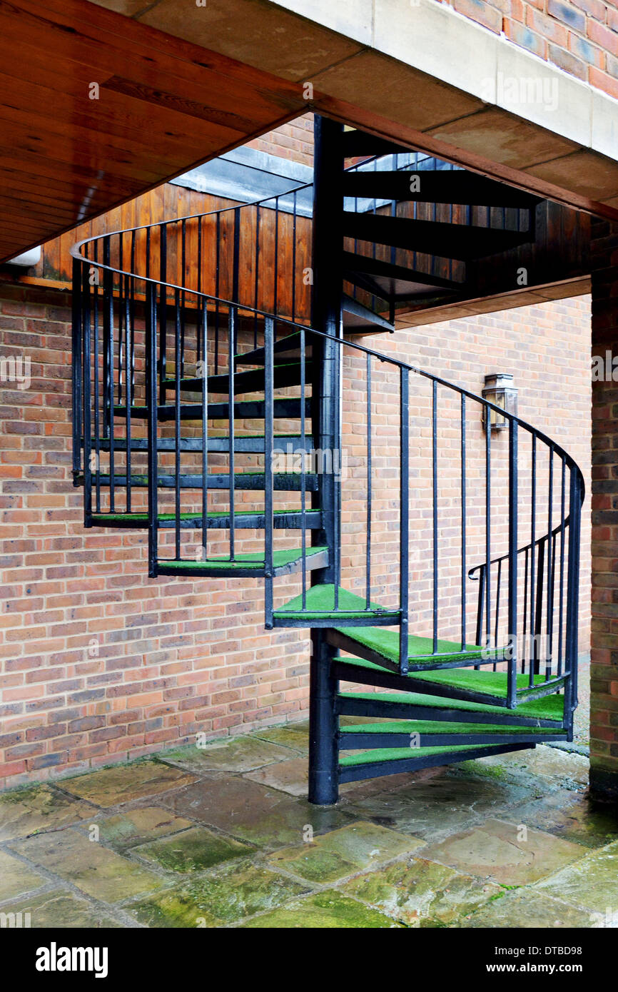 A Spiral Staircase Used As First Floor Egress In The Event Of Fire