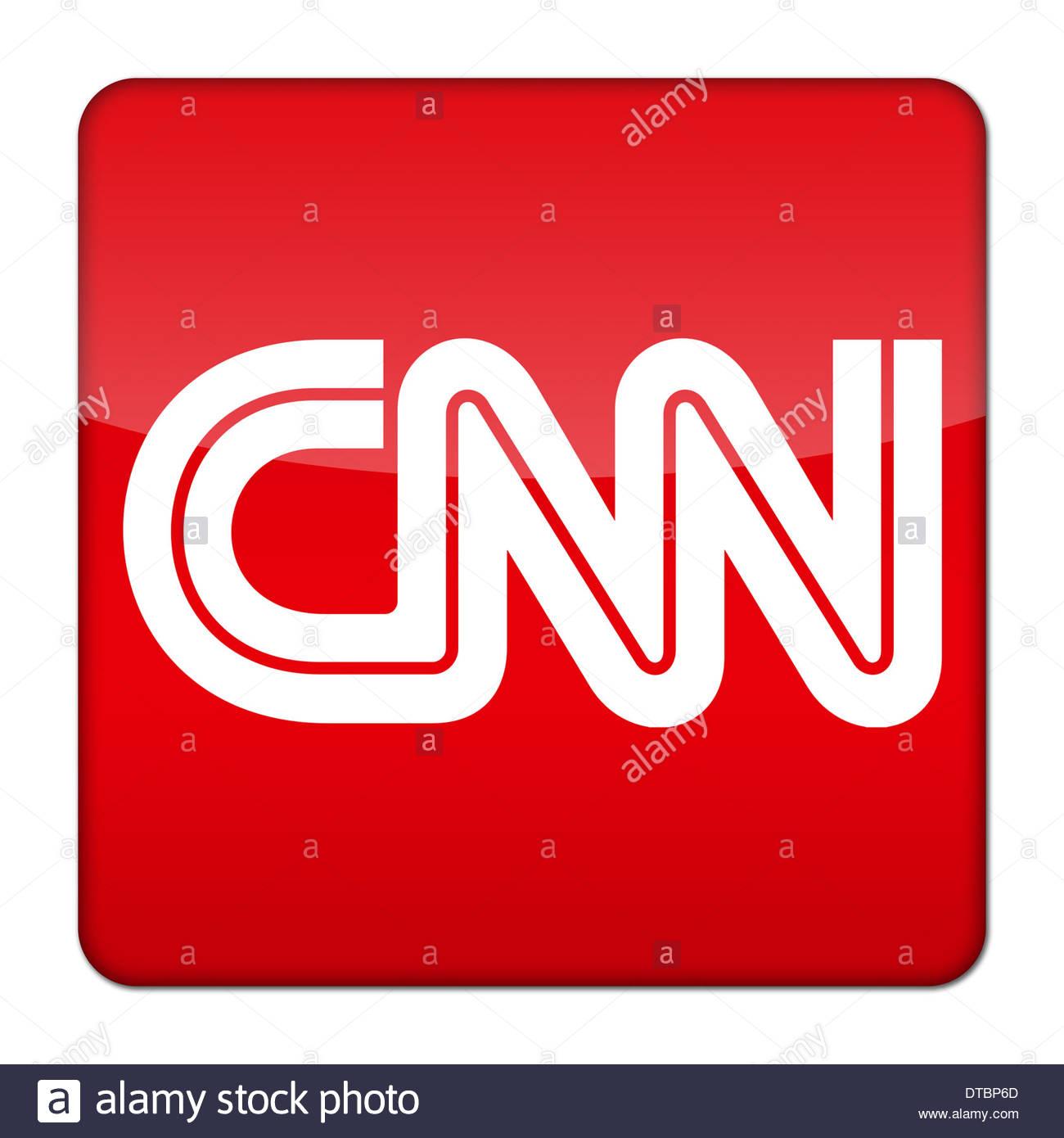 cnn news logo icon button app stock photo royalty free