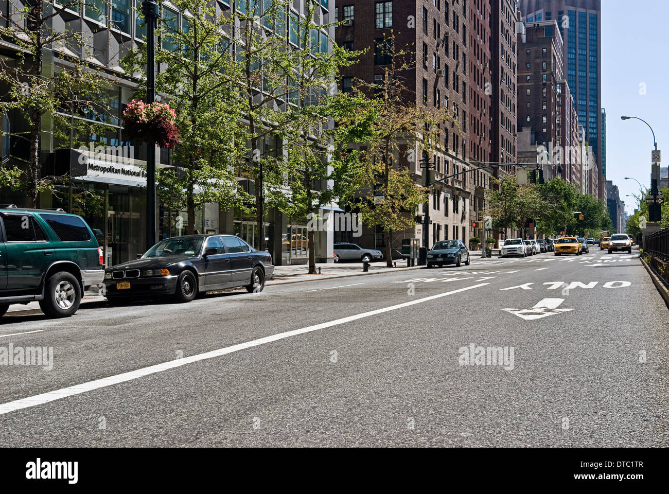 Empty urban street scene in New York City Stock Photo ...