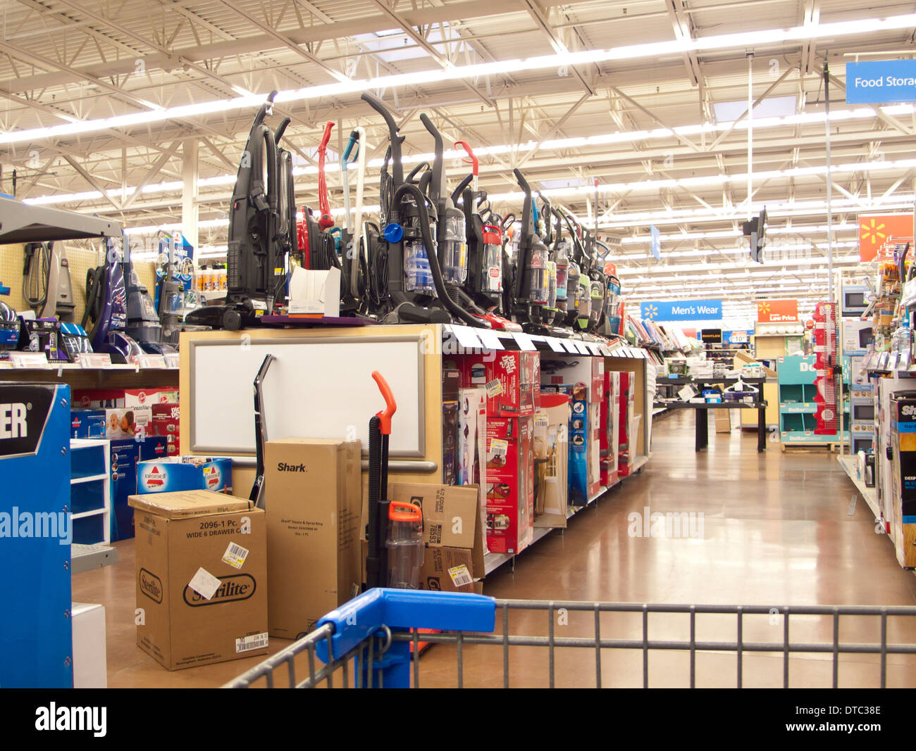 stock photo vacuum cleaner aisle at a walmart