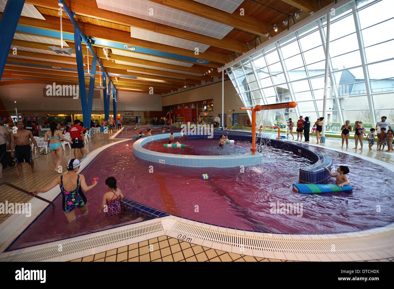 14th feb 2014 people swim in pink water at hillcrest olympic centers swimming pool on in vancouver canada feb14 2014 the water was dyed pink to - Olympic Swimming Pool 2014