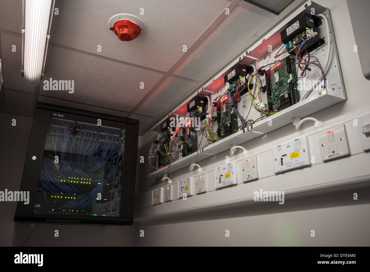 Door access control panels sighted in server room interfaced into stock photo royalty free - Internet multi server control panel ...
