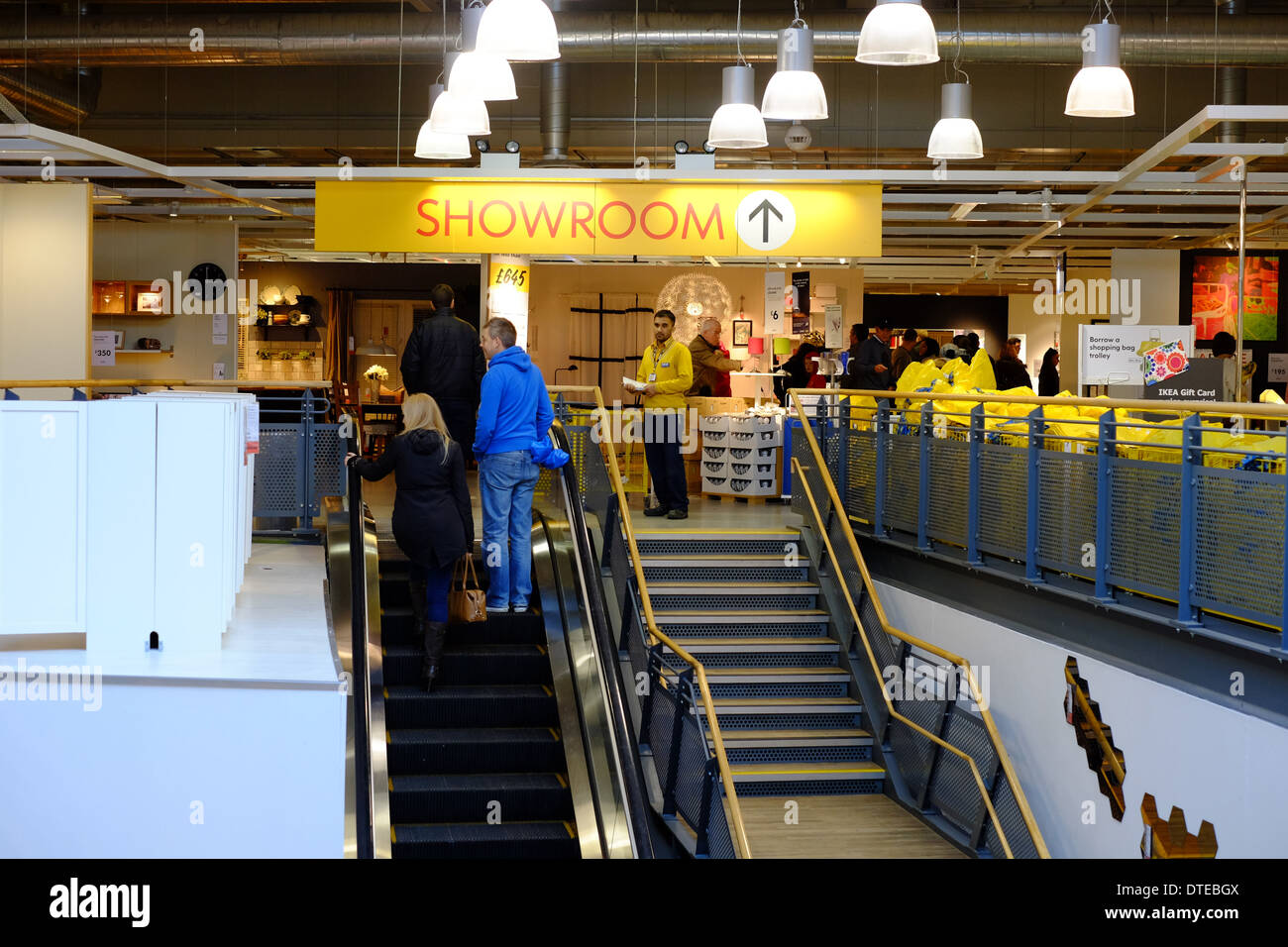 Shoppers On An Escalator At Ikea In Milton Keynes Stock Photo Royalty Free Image 66699274 Alamy