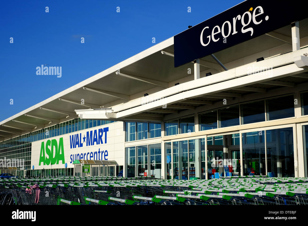 walmart superstore stock photos walmart superstore stock images exterior view of the asda walmart superstore in milton keynes stock image