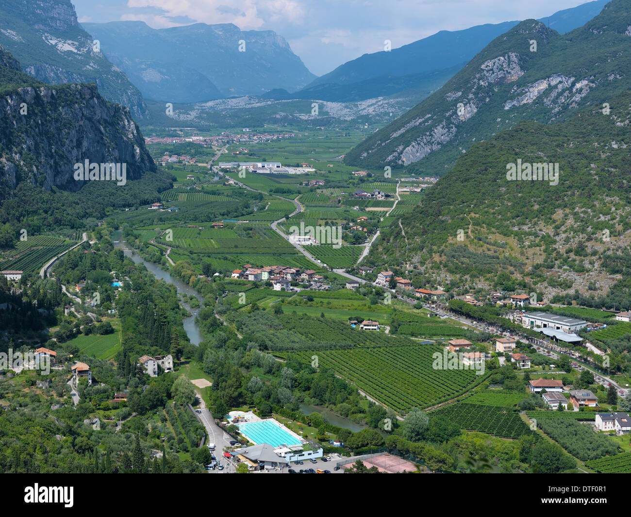 Arco Italy  city photos : Stock Photo Arco, Italy, view from Castello di Arco on the Sarca ...
