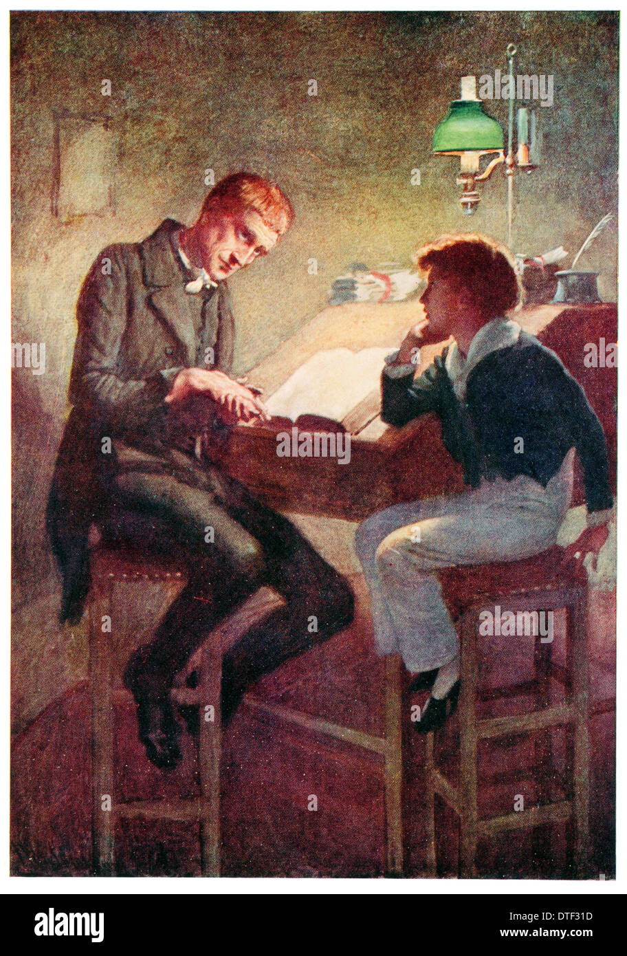 uriah heep and david copperfield illustration from the novel by stock photo uriah heep and david copperfield illustration from the novel by charles john huffam dickens