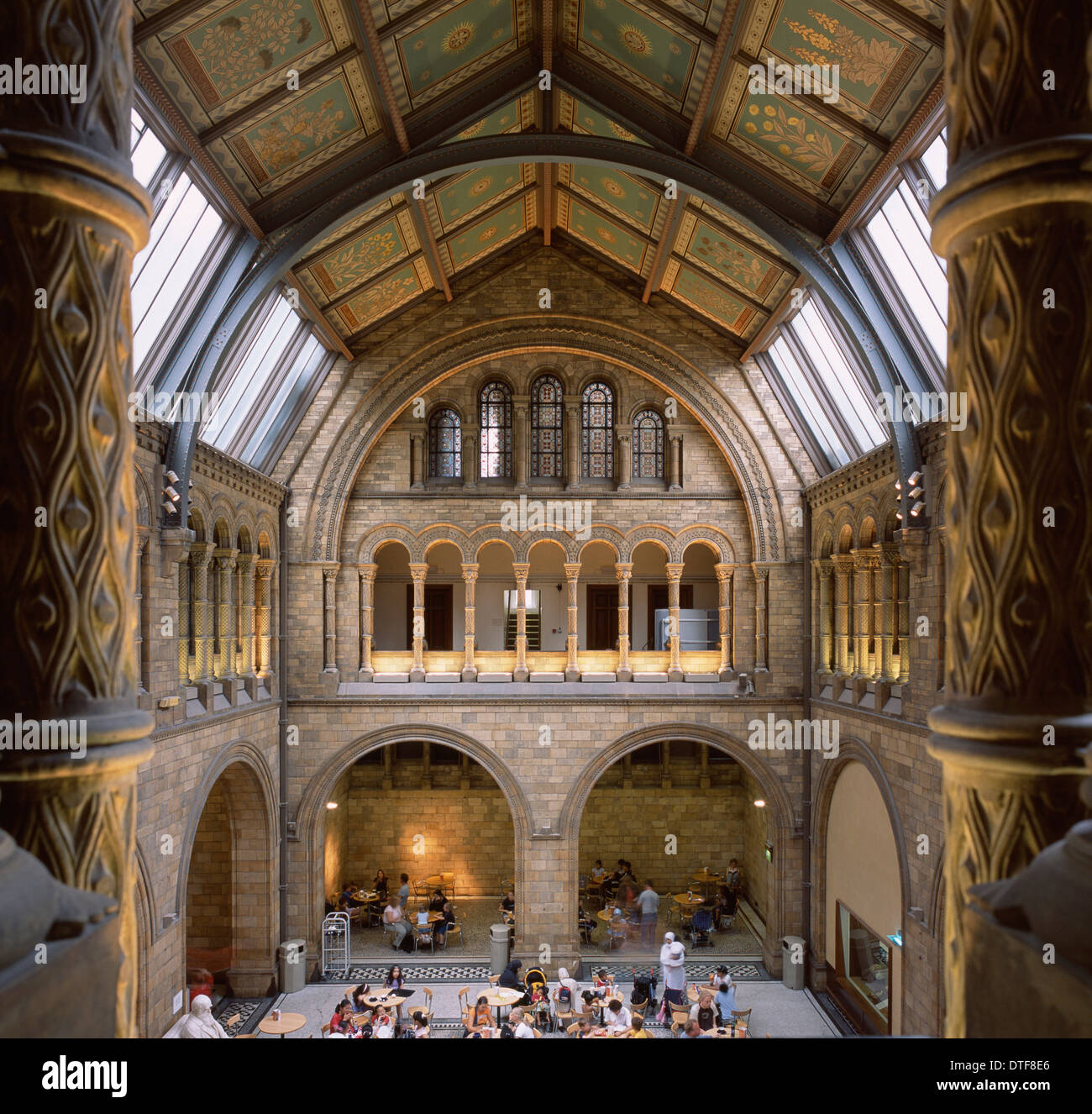 Foyer Museum London : North hall of the natural history museum london stock